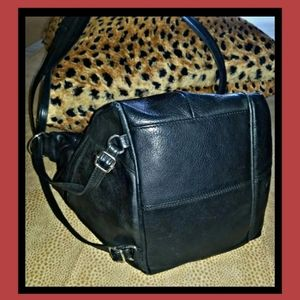 Fossil leather black hobo
